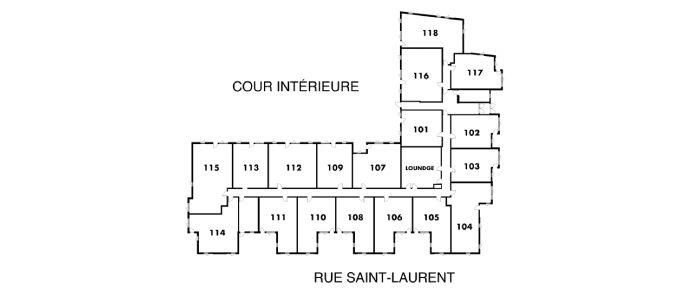 Plan de l'étage 1 - La Prairie